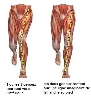 axes correct jambes
