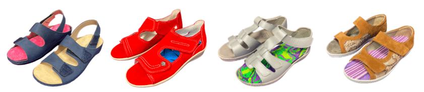 chaussures d'été semelles orthopédiques - orthèses plantaires - neut - podowell - fermetures adaptables - chaussures esthétiques et confortables