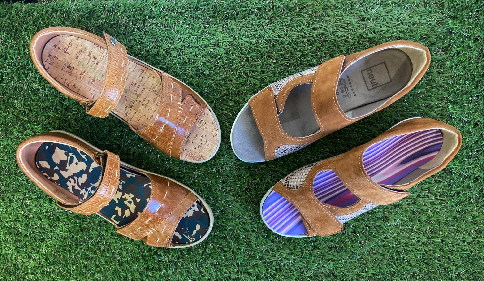 chaussures d'été semelles orthopédiques - chaussures d'été adaptées aux semelles orthopédiques - orthèse plantaire - chaussures orthopédiques