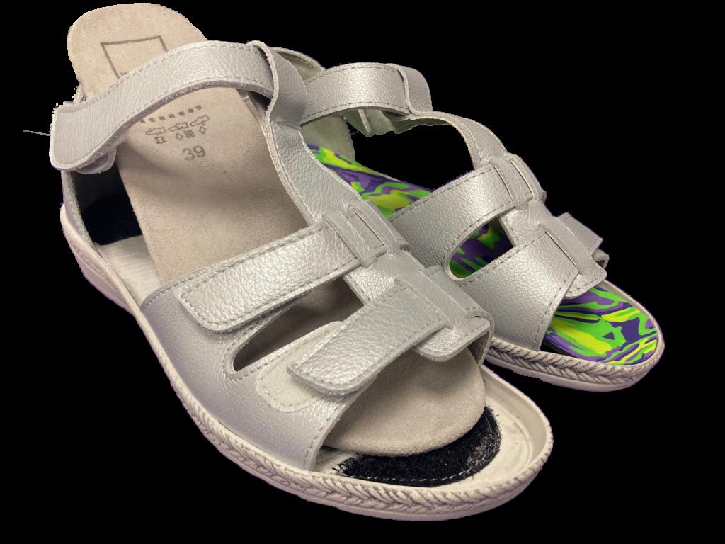 chaussures d'été semelles orthopédiques - orthèses plantaires - semelles amovibles - contrefort à l'arrière et à l'avant