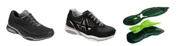 chaussures de marche seniors - chaussures de marches confortables - semelles externes biomécaniques - semelles DCS - système Dynamic Cross System