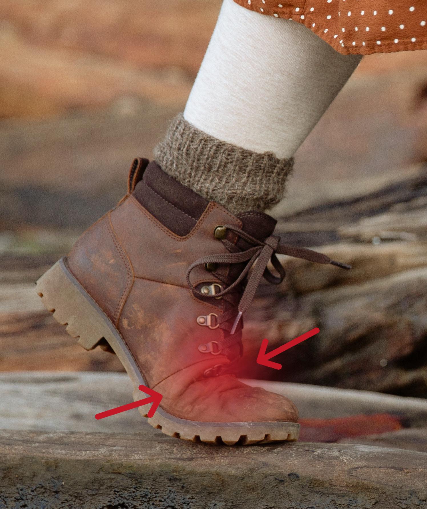 chaussure avec pliure - mauvaise chaussure de marche - problème chaussures de marche - douleurs à la marche - douleurs pieds seniors