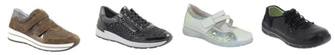 chaussure senior - chaussure orthopédique - chaussure confortable - chaussure largeur adaptée - chaussures larges