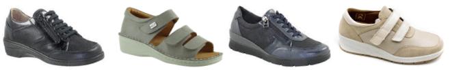 chaussure senior - chaussure orthopédique - chaussure confortable - chaussure avec semelles interne épaisse et amovible - semelles amovibles